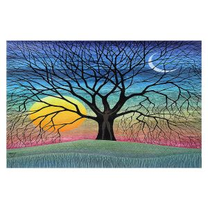 Decorative Floor Covering Mats | Jennifer Baird - Dryad 2 | Nature Trees Forest Sun Moon People
