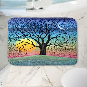 Decorative Bathroom Mats | Jennifer Baird - Dryad 2 | Nature Trees Forest Sun Moon People