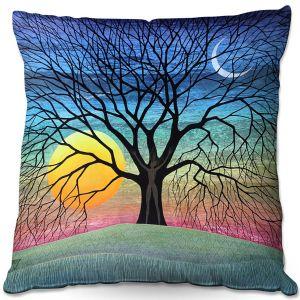 Throw Pillows Decorative Artistic   Jennifer Baird - Dryad 2   Nature Trees Forest Sun Moon People