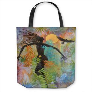 Unique Shoulder Bag Tote Bags | Jennifer Baird - Eagle Woman 1 | silhouette abstract surreal nature