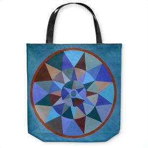 Unique Shoulder Bag Tote Bags | Jennifer Baird - Earth Mandala 1 | pattern geometric symmetry circle