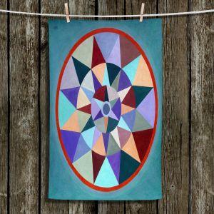 Unique Bathroom Towels | Jennifer Baird - Earth Mandala 2 | pattern geometric symmetry circle