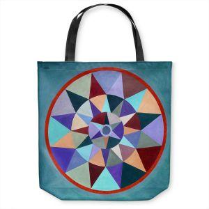 Unique Shoulder Bag Tote Bags | Jennifer Baird - Earth Mandala 2 | pattern geometric symmetry circle