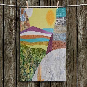Unique Hanging Tea Towels   Jennifer Baird - Emergence   City Ocean Sun Nature People