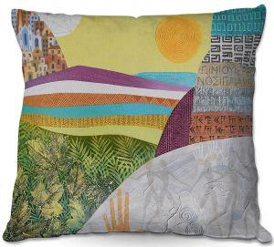 Decorative Outdoor Patio Pillow Cushion | Jennifer Baird - Emergence | City Ocean Sun Nature People