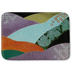 Decorative Bathroom Mats | Jennifer Baird - Enfolding | landscape abstract hills