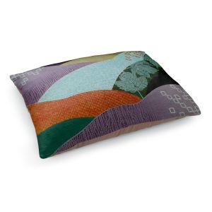 Decorative Dog Pet Beds | Jennifer Baird - Enfolding | landscape abstract hills
