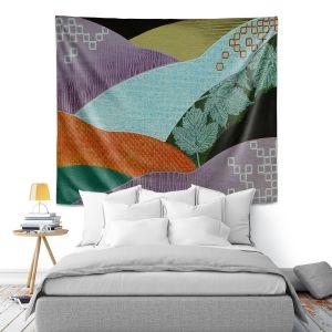 Artistic Wall Tapestry | Jennifer Baird - Enfolding | landscape abstract hills