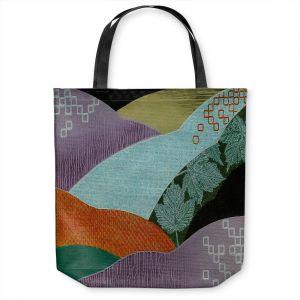 Unique Shoulder Bag Tote Bags   Jennifer Baird - Enfolding   landscape abstract hills