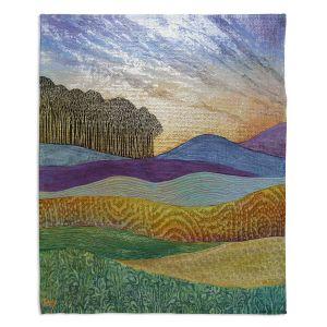 Decorative Fleece Throw Blankets | Jennifer Baird - Evening Glow
