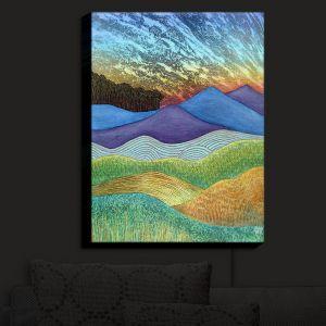 Nightlight Sconce Canvas Light | Jennifer Baird - Evening Glow 2 | landscape abstract hills mountains