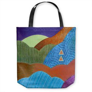 Unique Shoulder Bag Tote Bags   Jennifer Baird - Expansive Joy   landscape abstract hills mountains
