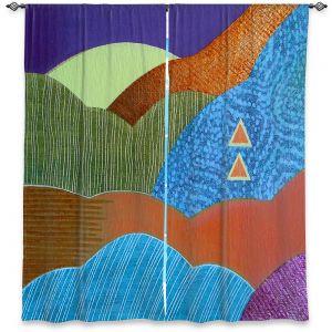 Decorative Window Treatments | Jennifer Baird - Expansive Joy | landscape abstract hills mountains