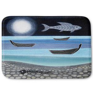 Decorative Bathroom Mats | Jennifer Baird - Ghost Fish | nature water ocean sealife