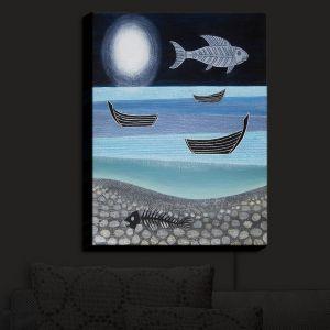 Nightlight Sconce Canvas Light | Jennifer Baird - Ghost Fish | nature water ocean sealife