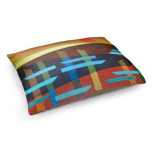 Decorative Dog Pet Beds | Jennifer Baird - Glyphs 1 | landmark abstract landscape