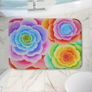 Decorative Bathroom Mats | Jennifer Baird - Joyous Flowers I
