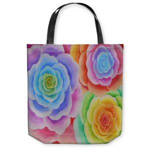Unique Shoulder Bag Tote Bags | Jennifer Baird Joyous Flowers I