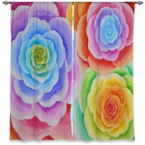 Decorative Window Treatments | Jennifer Baird Joyous Flowers I