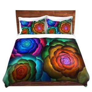 Artistic Duvet Covers and Shams Bedding   Jennifer Baird - Joyous Flowers II