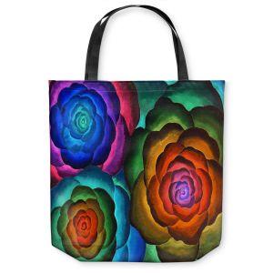 Unique Shoulder Bag Tote Bags | Jennifer Baird Joyous Flowers II
