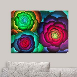 Decorative Canvas Wall Art | Jennifer Baird - Joyous Flowers III