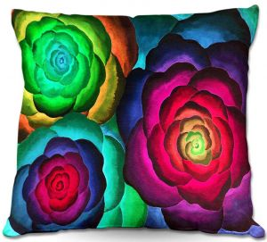 Unique Outdoor Pillow 16X16 from DiaNoche Designs by Jennifer Baird - Joyous Flowers III