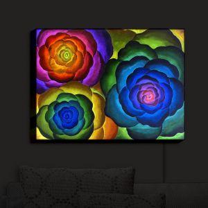 Nightlight Sconce Canvas Light | Jennifer Baird - Joyous Flowers IV | Flowers