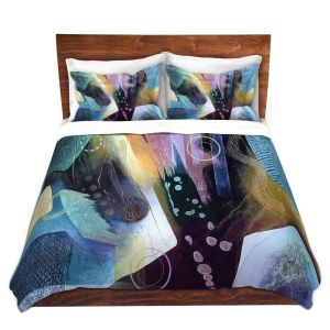 Artistic Duvet Covers and Shams Bedding | Jennifer Baird - Language | Abstract Pattern
