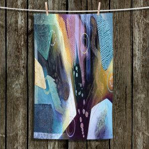 Unique Hanging Tea Towels | Jennifer Baird - Language | Abstract Pattern