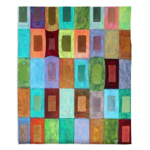 Decorative Fleece Throw Blankets | Jennifer Baird - Light Colour | pattern simple rectangle square