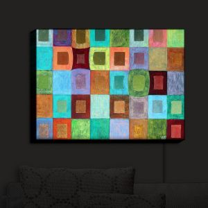 Nightlight Sconce Canvas Light | Jennifer Baird - Light Colour | pattern simple rectangle square