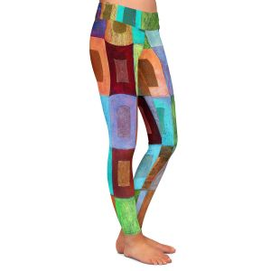 Casual Comfortable Leggings | Jennifer Baird - Light Colour | pattern simple rectangle square