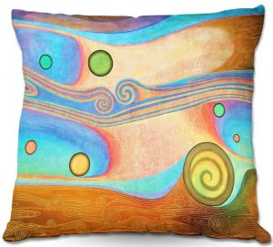 Unique Throw Pillows from DiaNoche Designs by Jennifer Baird - Liquid Crystals