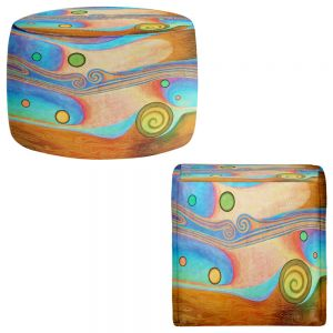 Round and Square Ottoman Foot Stools | Jennifer Baird - Liquid Crystals