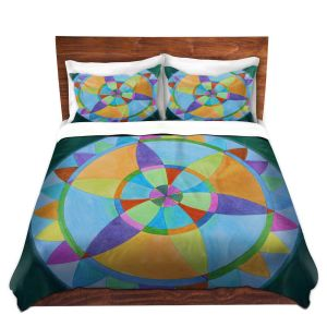 Artistic Duvet Covers and Shams Bedding | Jennifer Baird - Mandala I A