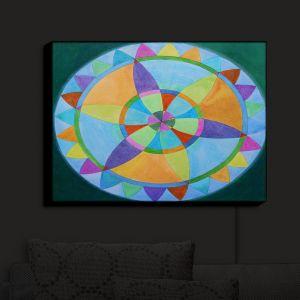 Nightlight Sconce Canvas Light | Jennifer Baird's Mandala I A