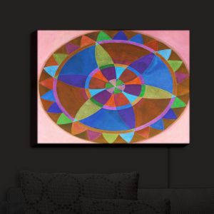 Nightlight Sconce Canvas Light | Jennifer Baird's Mandala I B