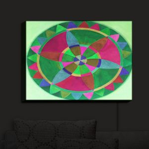 Nightlight Sconce Canvas Light | Jennifer Baird's Mandala I C