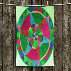 Unique Hanging Tea Towels | Jennifer Baird - Mandala I C | Patterns Abstract