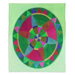 Decorative Fleece Throw Blankets | Jennifer Baird - Mandala I C
