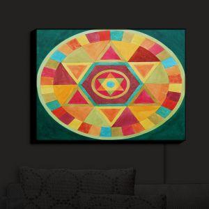 Nightlight Sconce Canvas Light | Jennifer Baird's Mandala II A