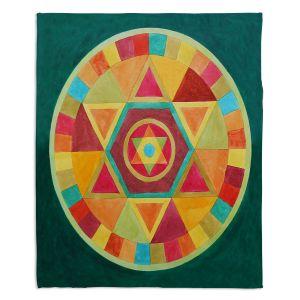 Decorative Fleece Throw Blankets | Jennifer Baird - Mandala II A