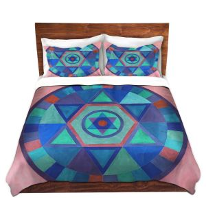 Artistic Duvet Covers and Shams Bedding | Jennifer Baird - Mandala II B