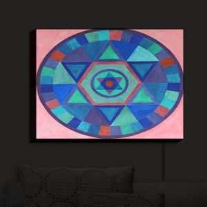 Nightlight Sconce Canvas Light | Jennifer Baird's Mandala II B