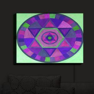 Nightlight Sconce Canvas Light | Jennifer Baird's Mandala II C