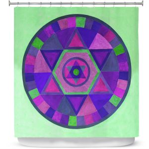 Premium Shower Curtains | Jennifer Baird Mandala II C