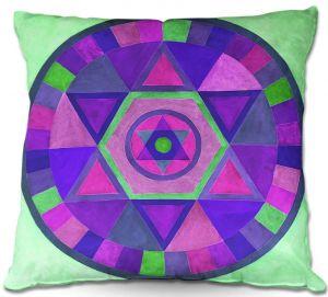 Decorative Outdoor Patio Pillow Cushion | Jennifer Baird - Mandala II C