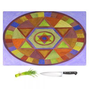 Artistic Kitchen Bar Cutting Boards | Jennifer Baird - Mandala II D