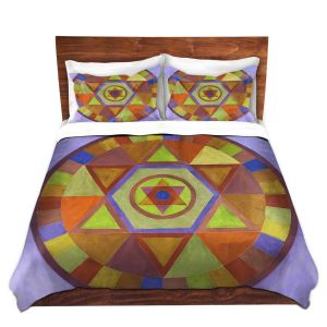Artistic Duvet Covers and Shams Bedding | Jennifer Baird - Mandala II D